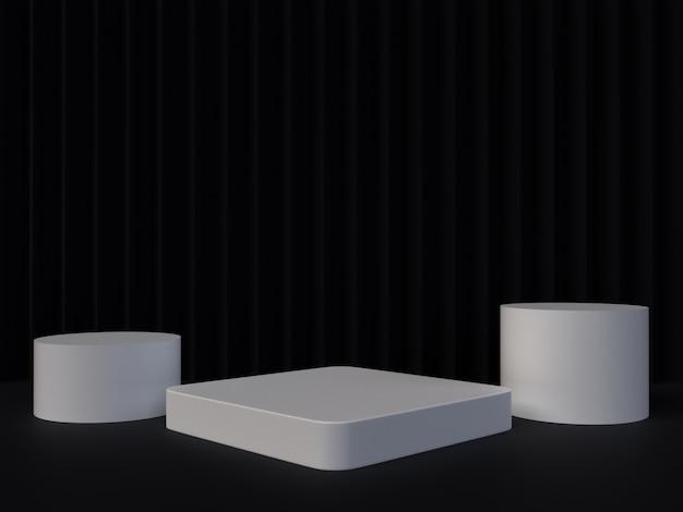 Abstraktes 3d, das geometrischen hintergrund überträgt. minimalistisches design mit leerem raum.
