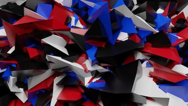 Abstraktes 3d-rendering geometrisch