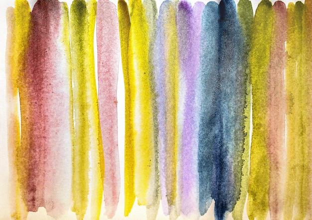 Abstraktes aquarell gemalter bunter nasser hintergrund auf papier. aquarell textur