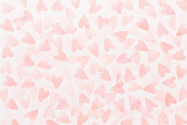 Abstraktes aquarellrot, rosa herzhintergrund
