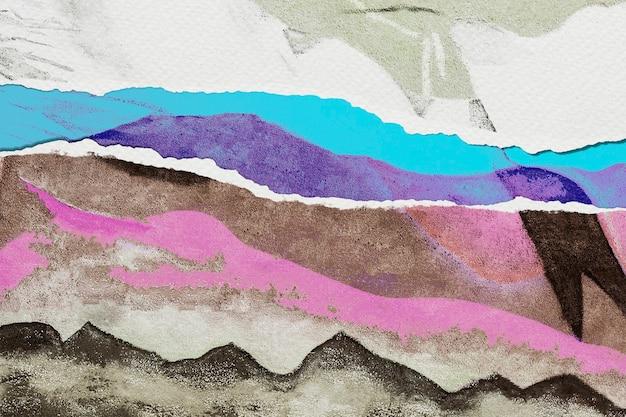 Abstraktes bild im stil des zerrissenen papiers