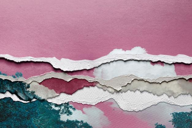 Abstraktes bild im stil des zerrissenen papiers Kostenlose Fotos