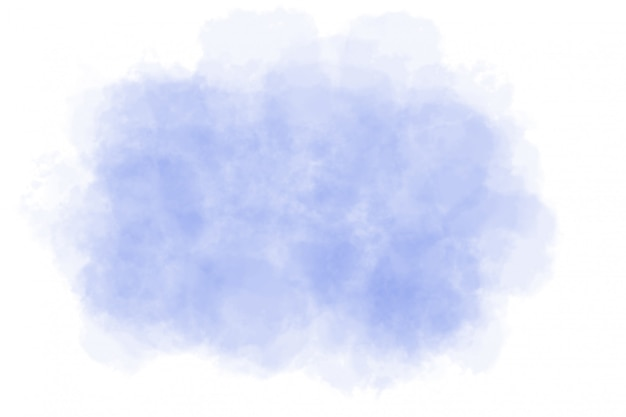 Abstraktes blaues aquarell auf weiß