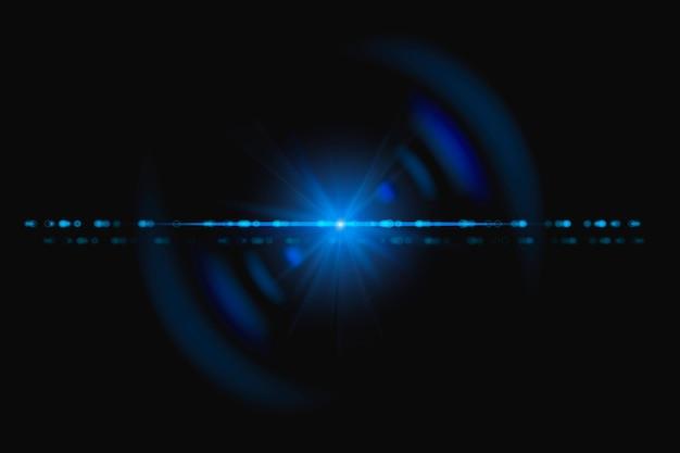 Abstraktes blaues lens flare mit spektrum-geist-design-element