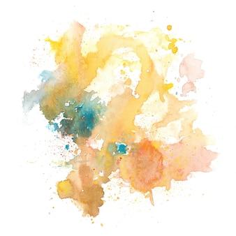 Abstraktes buntes aquarellspritzen