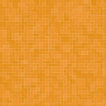 Abstraktes buntes geometrisches muster, orange, gelber und roter steinzeugmosaikbeschaffenheitshintergrund, moderner artwandhintergrund.