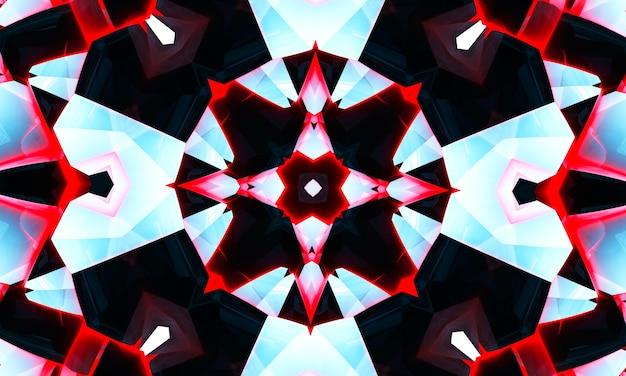 Abstraktes cooles kreuzkaleidoskop-motiv x, super auflösung für ihr projekt