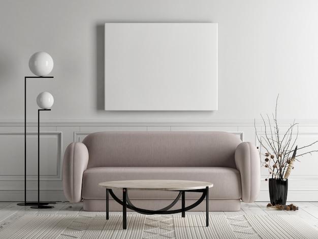 Abstraktes design des plakatwohnzimmers im skandinavischen stil