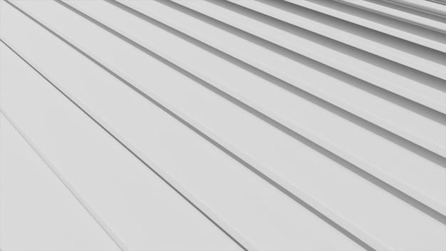 Abstraktes design von bewegungstreppen. weißer minimaler architektonischer hintergrund.