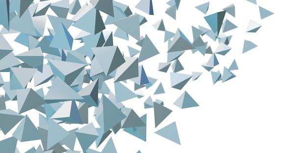 Abstraktes dreieck glänzender geometrischer hintergrund 3d illustration