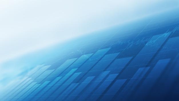 Abstraktes finanzielles balkendiagramm an der börse auf blauem hintergrund