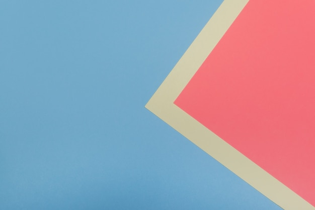 Abstraktes geometrisches design mit zwei farben. platz kopieren