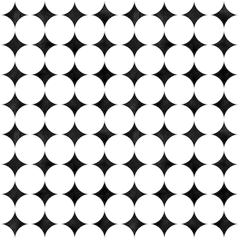 Abstraktes geometrisches nahtloses muster. minimalistisches schwarzweiß-aquarell-kunstwerk mit einfachen formen und figuren. aquarell kreise geformte textur. druck für textilien, tapeten, verpackungen
