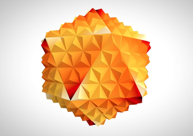 Abstraktes geschäftskonzept. abstrakte kugel auf weißem hintergrund. 3d-rendering