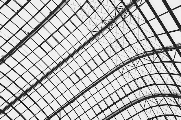 Abstraktes glasfensterdach-architekturäußeres