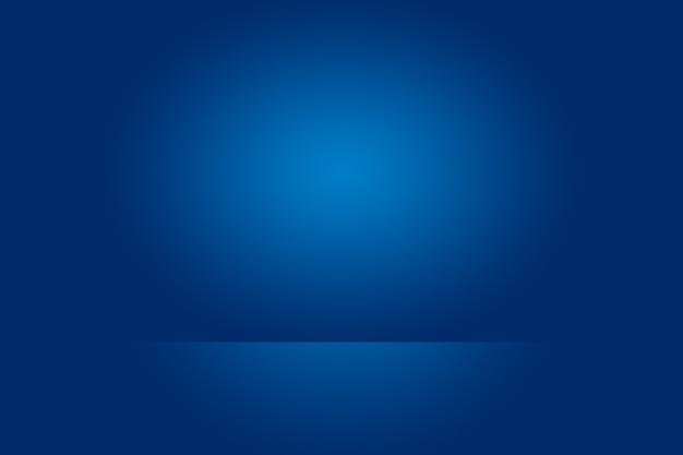 Abstraktes glattes blau mit schwarzer vignette studio gut als hintergrund, geschäftsbericht, digital, website-vorlage verwenden.