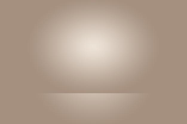 Abstraktes glattes braunes wandhintergrund-layout-design, studio, raum, webschablone, geschäftsbericht mit glatter kreisgradientenfarbe.