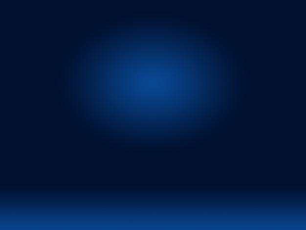 Abstraktes glattes dunkelblau mit schwarzer vignette studio gut als hintergrund, geschäftsbericht, digital, website-vorlage, hintergrund verwenden.