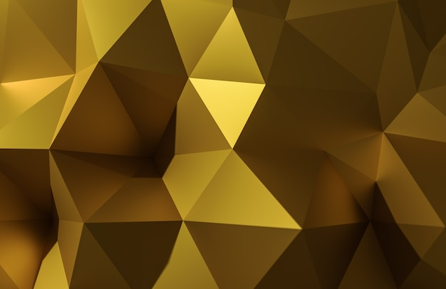 Abstraktes gold der illustration 3d polygonal, niedrige polyform für design.