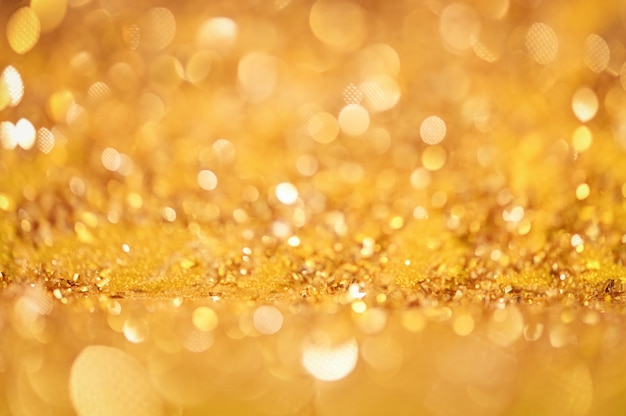 Abstraktes goldglister bokeh hintergrund-weihnachtslichter