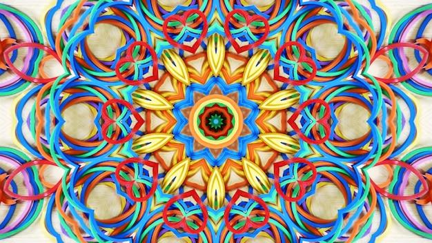 Abstraktes herz-geformte gummibänder erläuterter hintergrund