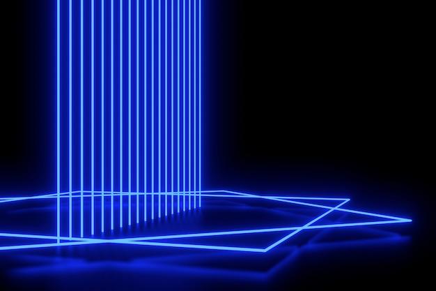 Abstraktes hintergrundlicht. strichzeichnungen design. 3d-rendering.