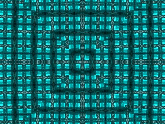 Abstraktes kaleidoskopisches muster der illustration in jadefarbe entstand aus der fotografie von grünen bambusblättern, die für fliesen, tapeten, textilien oder schals entworfen wurden.