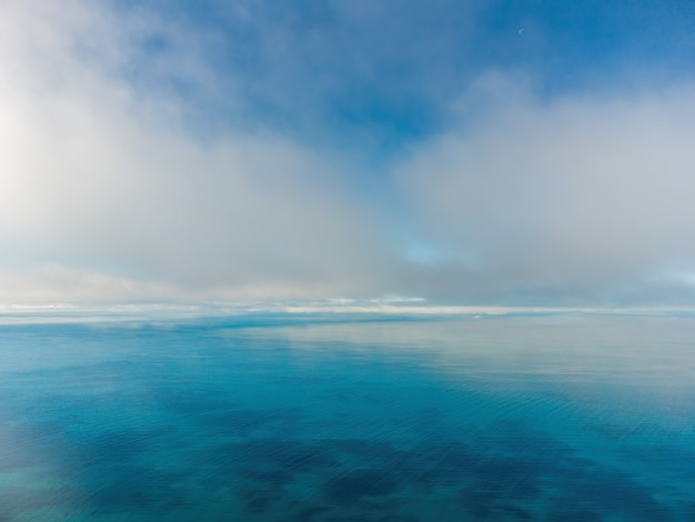 Abstraktes luftnatursommerozeansonnenuntergangmeer und himmelhintergrund natürliches himmelzusammensetzungselement von