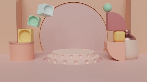 Abstraktes mattes farbkonzept-produktstanddesign
