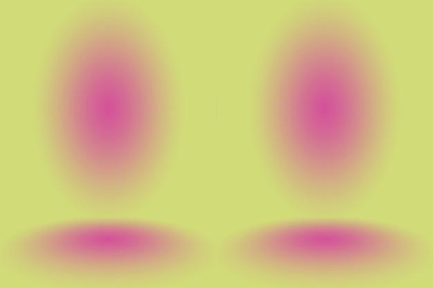 Abstraktes mockup glatter orange steigungsstudio-raumwandhintergrund.