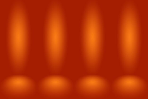 Abstraktes mockup glatter orange steigungsstudioraumwandhintergrund