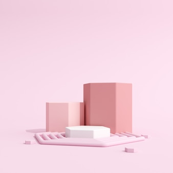 Abstraktes modell des geometrie-podiums für die produktpräsentation