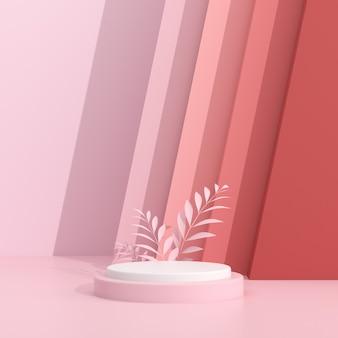 Abstraktes modell des geometrie-podiums im minimalen stil.