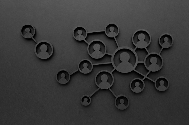 Abstraktes networking-konzept stillleben-sortiment