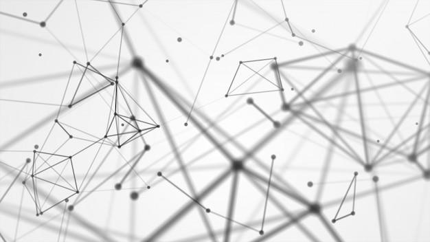 Abstraktes netzwerk netzwerk verbunden