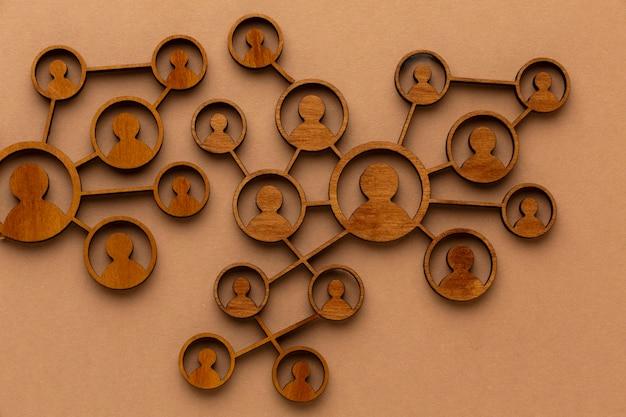 Abstraktes netzwerkkonzept stillleben anordnung