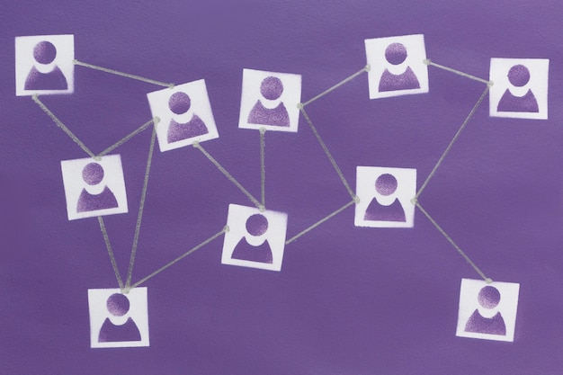Abstraktes netzwerkkonzept stillleben