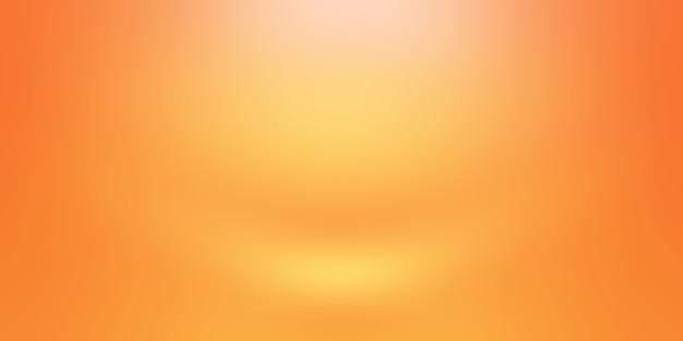 Abstraktes orangefarbenes hintergrund-layout-design, studio, zimmer, web-vorlage, geschäftsbericht mit glatter kreisverlaufsfarbe. Kostenlose Fotos