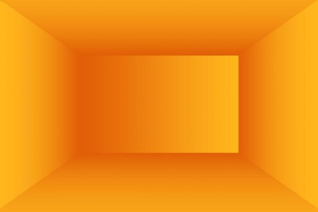 Abstraktes orangefarbenes hintergrund-layout-design, studio, zimmer, web-vorlage, geschäftsbericht mit glatter kreisverlaufsfarbe.