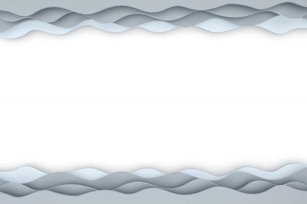 Abstraktes papierschnittkunsthintergrunddesign für website-vorlage oder präsentationsschablone.