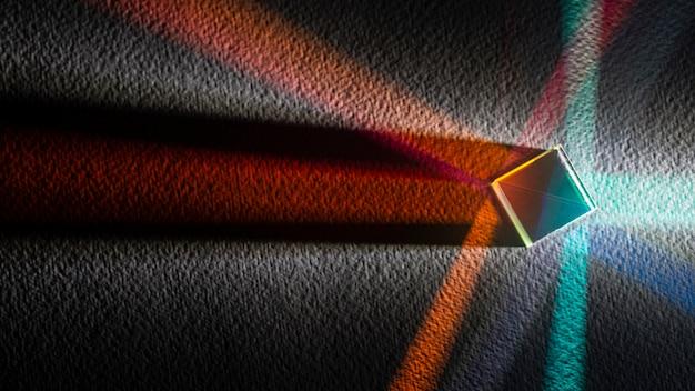 Abstraktes prisma und lichter draufsicht kopieren raum