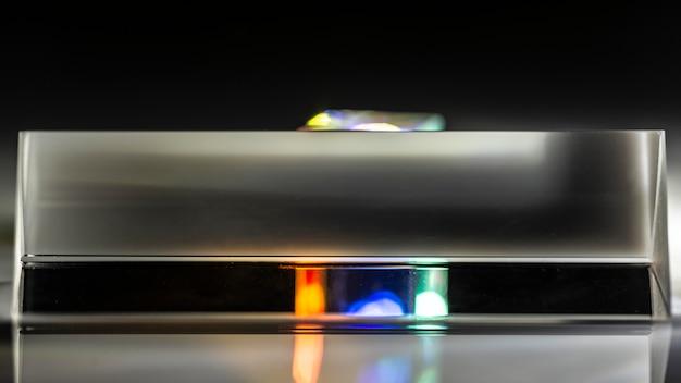 Abstraktes prisma und lichter kopieren raum