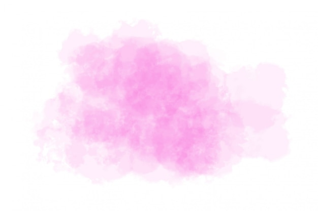 Abstraktes rosa aquarell auf weiß