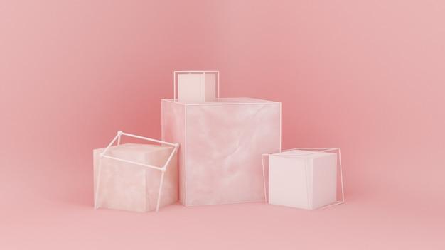 Abstraktes rosa teilchen des studio-minimalismus