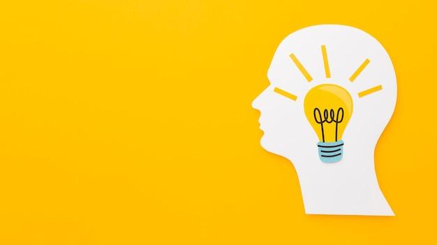 Abstraktes sortiment der draufsicht mit innovationselementen