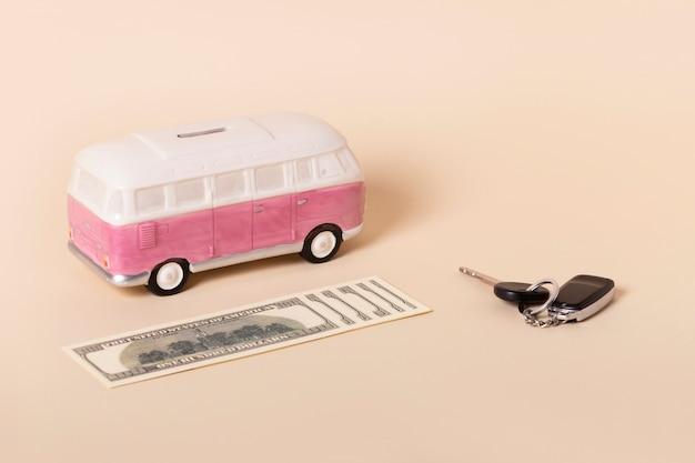 Abstraktes stillleben-arrangement für finanzielle freiheit