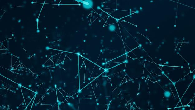 Abstraktes technologie-netzwerk verbindet und atmet wissenschaftskonzepthintergrund futuristischer bewegungsgrafischer hintergrund