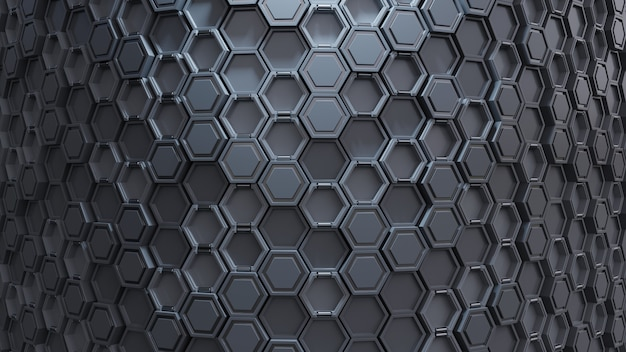 Abstraktes technologisches hexagonmuster.