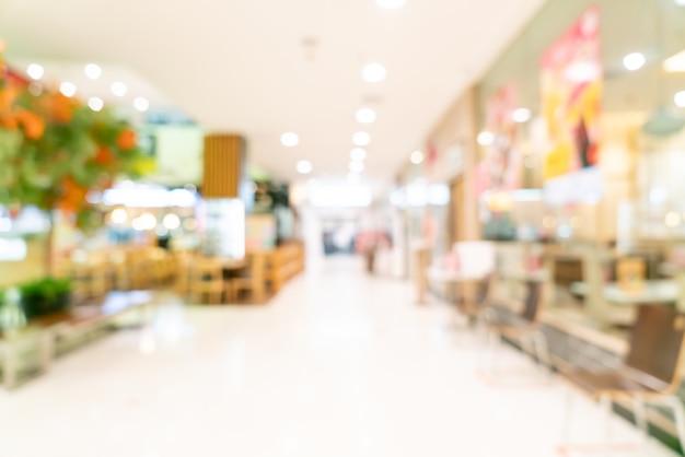 Abstraktes unschärfe-einkaufszentrum für hintergrund