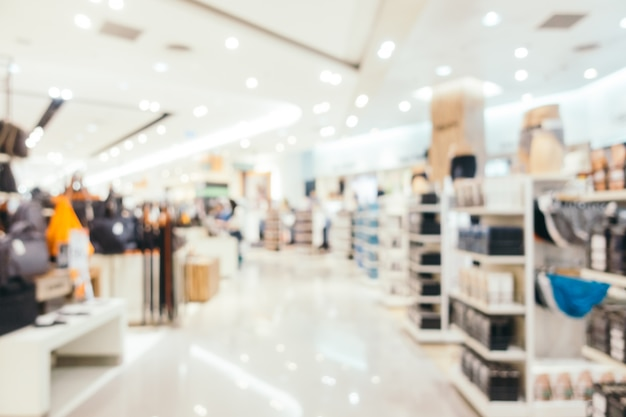 Abstraktes unschärfe und defokussiertes einkaufszentrum